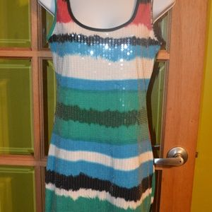 sequin tank dress size sm